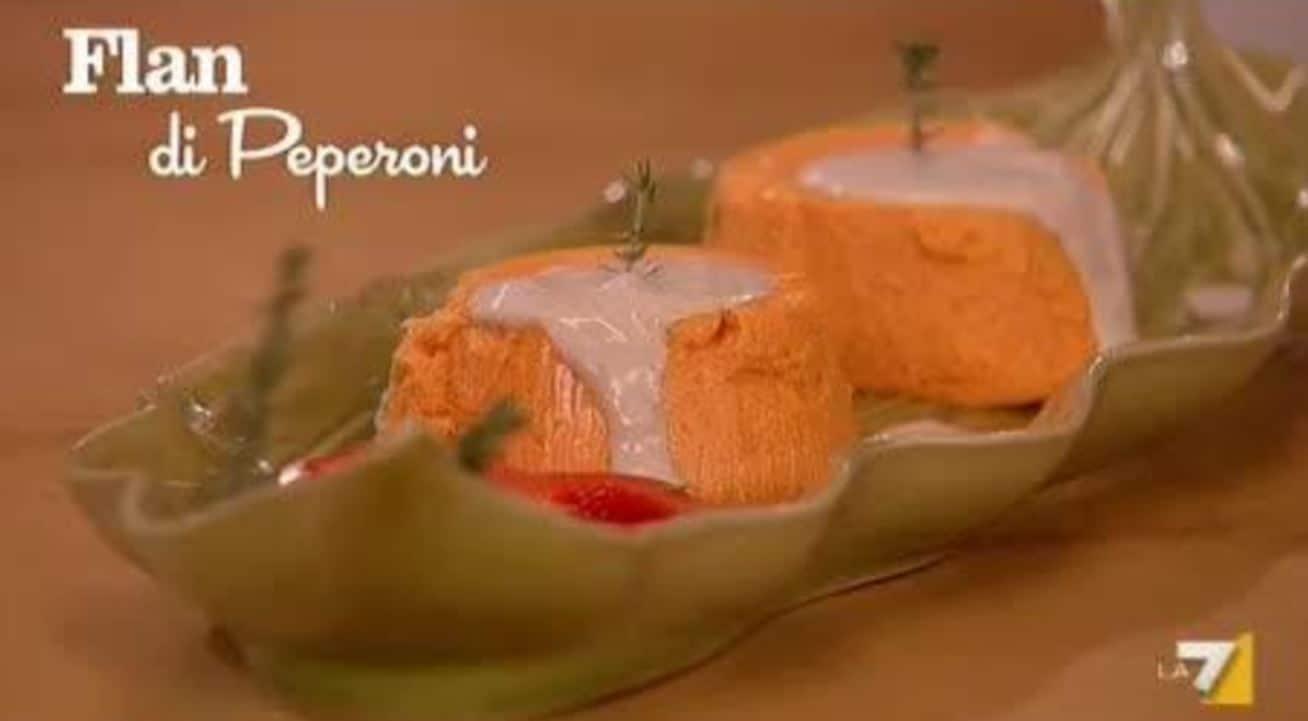 Flan di peperoni, la ricetta di Rossella Brescia e Benedetta Parodi (video)