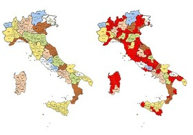 Cartina Italia Provincie.Spending Review Quali Saranno Le Province Cancellate