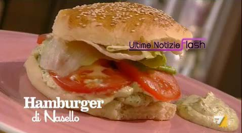 Ricette men tutto panini l 39 hamburger di nasello di for Tutto cucina ricette