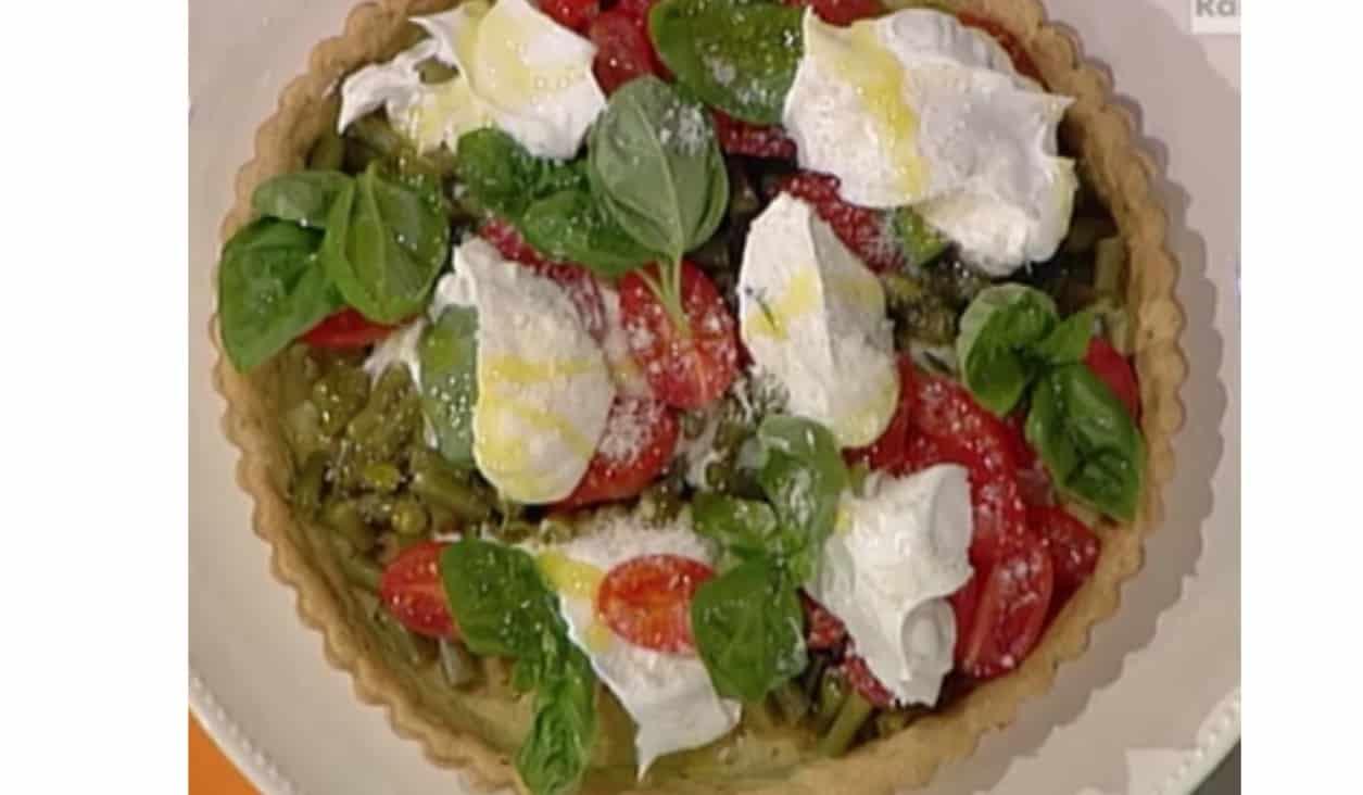 Ricette Sergio Barzetti: crostata con ricotta, fagiolini e pomodori