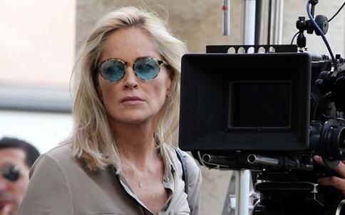 Sharon Stone a Roma sul set di Un ragazzo d'oro