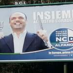 Roma, taroccati i manifesti elettorali di Alfano per le elezioni europee
