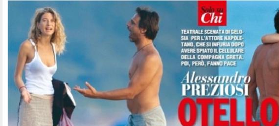 Alessandro Preziosi Scenata Di Gelosia In Spiaggia Alla Fidanzata