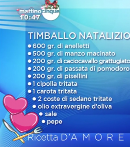 ingredienti timballo