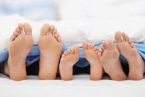 piedi lenzuola
