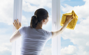 pulire finestre