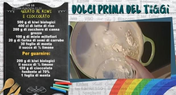 gelato kiwi cioccolato