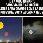 La bufala del 27 agosto su Marte visibile come la Luna