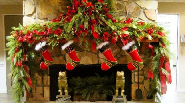 Come Decorare Il Camino A Natale In Modo Originale Foto