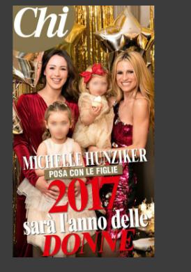 Michelle Hunziker e le sue donne in copertina su Chi (FOTO)