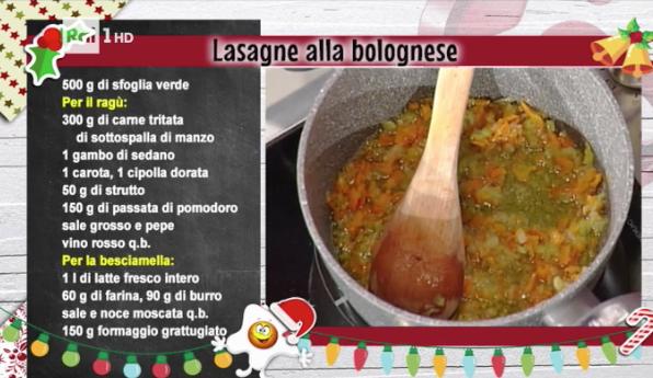 Ricette Alessandra Spisni: lasagne alla bolognese per Capodanno