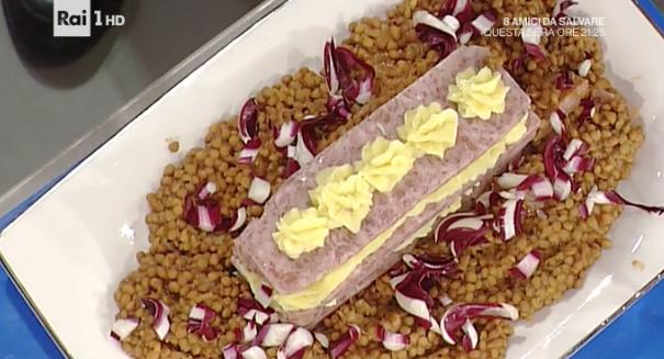 Ricette Capodanno La prova del cuoco, millefoglie cotechino purè e lenticchie