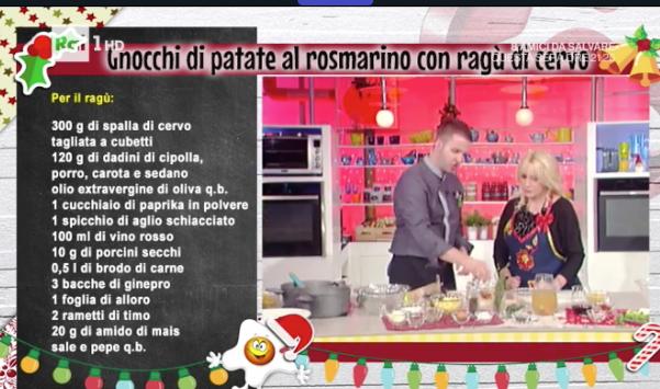 Gnocchi di patate al rosmarino con ragù, la ricetta La prova del cuoco