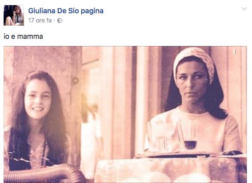 Terribile lutto per Giuliana De Sio, su Facebook la frase più dolorosa (Foto)