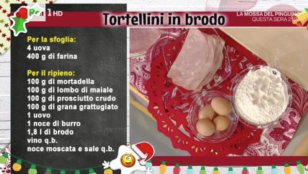 Ricette Alessandra Spisni tortellini in brodo per Natale