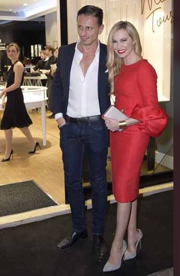 Federica Panicucci e Marco Bacini al party per l'inaugurazione di un nuovo store (Foto)