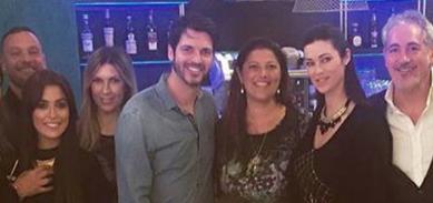 Sergio Arcuri festa di compleanno con Manuela e gli amici (Foto)