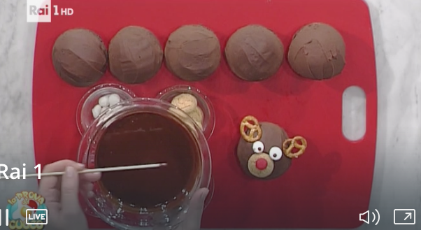 Ricetta sprint La prova del cuoco, cupcake alce per Natale