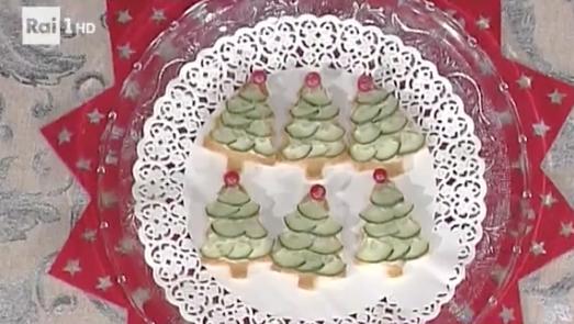 La ricetta delle tartine di Natale, ricetta sprint La prova del cuoco