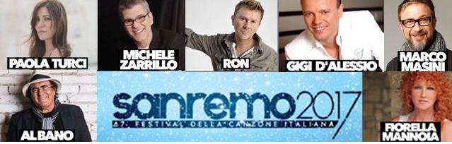 Sanremo 2017 tutti i Big in gara con i titoli delle canzoni scelte per il Festival