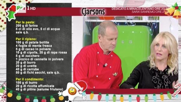 La ricetta dei ravioloni cjarsons di Natale da La prova del cuoco