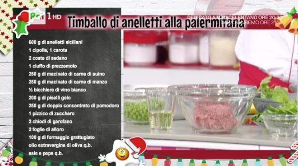La ricetta del timballo di anelletti alla palermitana La prova del cuoco
