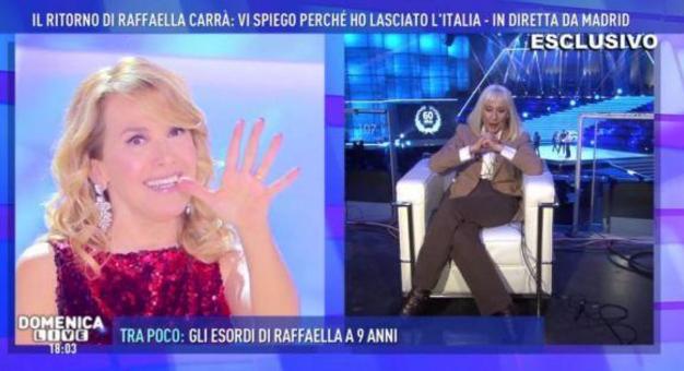 Raffaella Carrà sceglie Domenica Live per annunciare il suo ritiro dalla tv