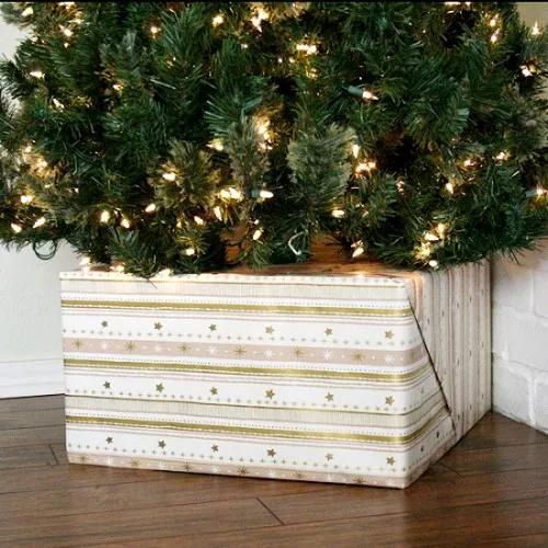 Come rivestire la base dell'albero di Natale in modo originale (FOTO)