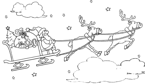 I Disegni Di Babbo Natale Da Stampare E Colorare Per I Bambini
