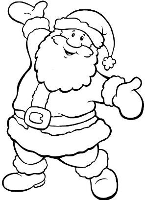 Immagini Di Babbo Natale Da Colorare E Stampare.Babbo Natale Da Scaricare E Colorare 2 Ultime Notizie Flash