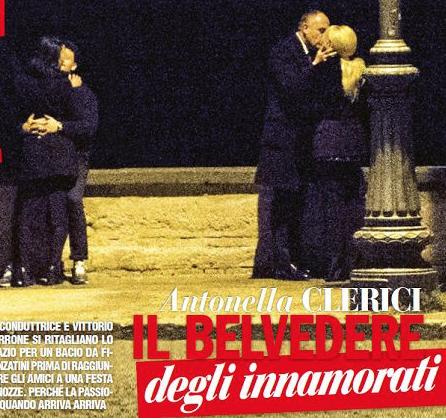 Antonella Clerici e Vittorio Garrone, il bacio romantico e il Capodanno insieme (Foto)