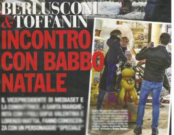 Silvia Toffanin da Babbo Natale con i figli e Pier Silvio Berlusconi (Foto)