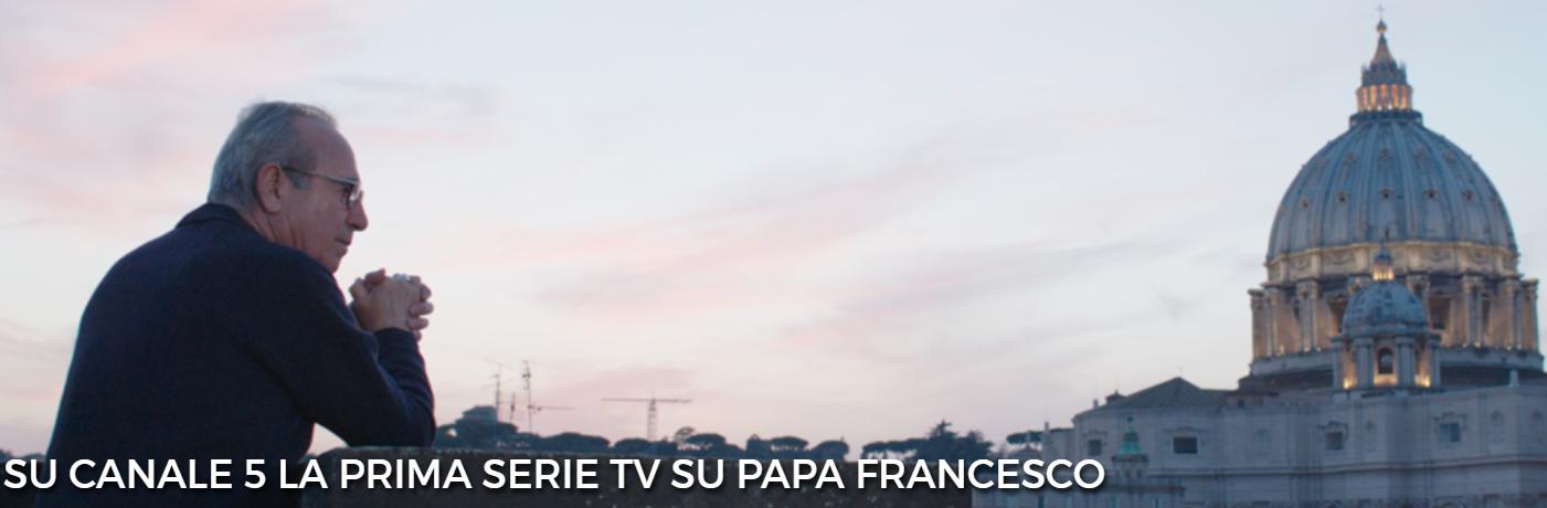 Francesco-Il Papa della gente stasera e domani su Canale 5 la storia di Papa Bergoglio