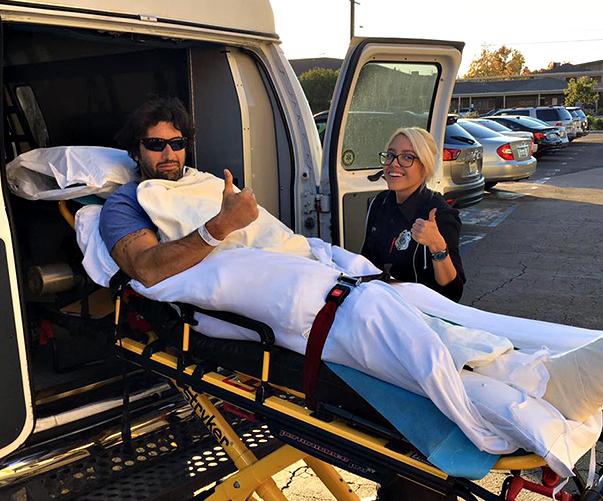 Walter Nudo, brutto incidente e ricovero in ospedale è già stato operato (Foto)