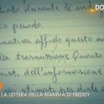 La lettera della mamma di Freddy e Debora Sorgato per la famiglia Noventa a Quarto Grado