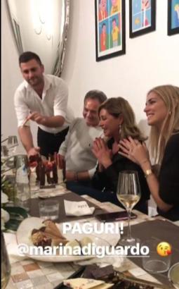 Per Chiara Ferragni e Fedez cena a casa in famiglia dopo l'annuncio della gravidanza (Foto)