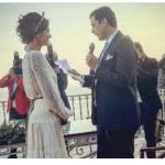 Il matrimonio di Giulia Bevilacqua a Positano, l'attrice sposa incantevole in stile hippie chic (Foto)