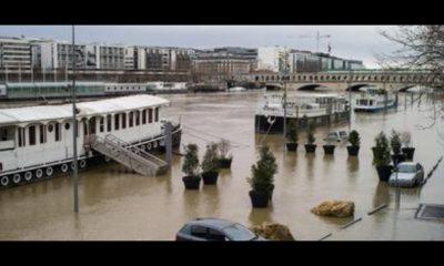 parigi, fiumi senna e marna in piena