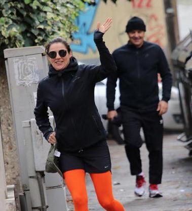 Luca Zingaretti e Luisa Ranieri beccati mentre si allenano insieme e di corsa (Foto)