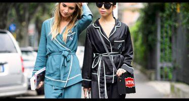 pajamas style, uscire con il completo pigiama