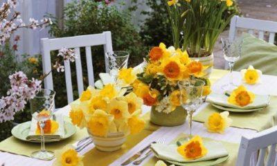 come apparecchiare la tavola in primavera