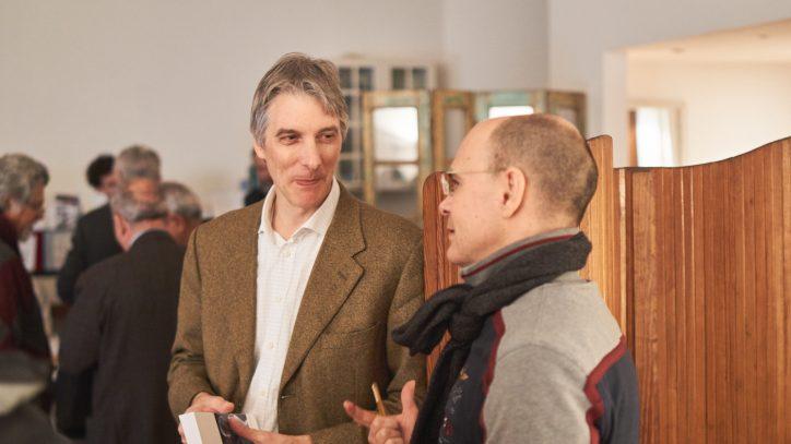 L'autore del libro Alessandro De Luyk durante la presentazione dell'opera