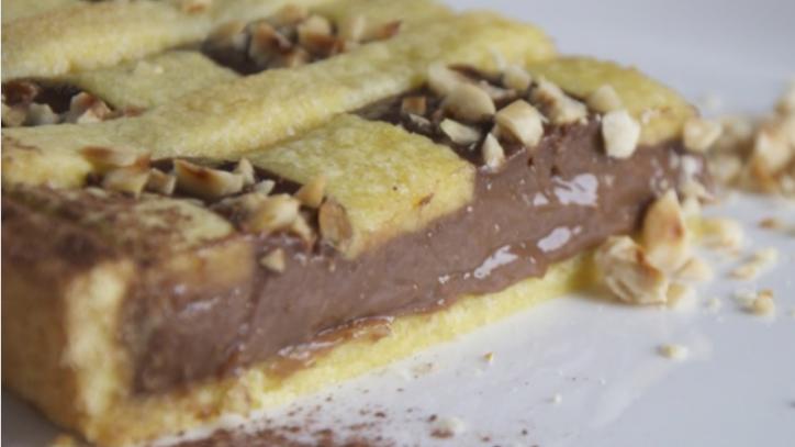 Dolci Facili E Veloci.La Ricetta Della Frolla Rapida Farcita Con Crema Al Cacao