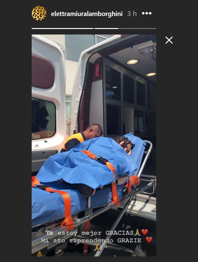 Elettra Lamborghini finisce in ospedale: le immagini sui social (FOTO)