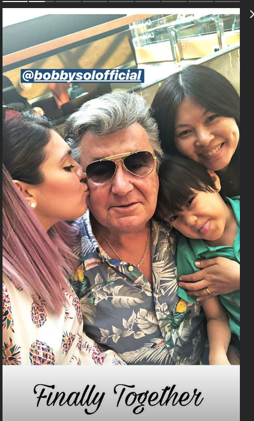 Veronica Satti riabbraccia suo padre Bobby Solo e il fratellino (FOTO)