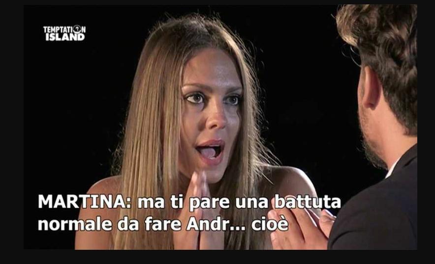 Temptation Island 2018 ultima puntata, Martina perde Gianpaolo e anche Andrea detto Andrew?