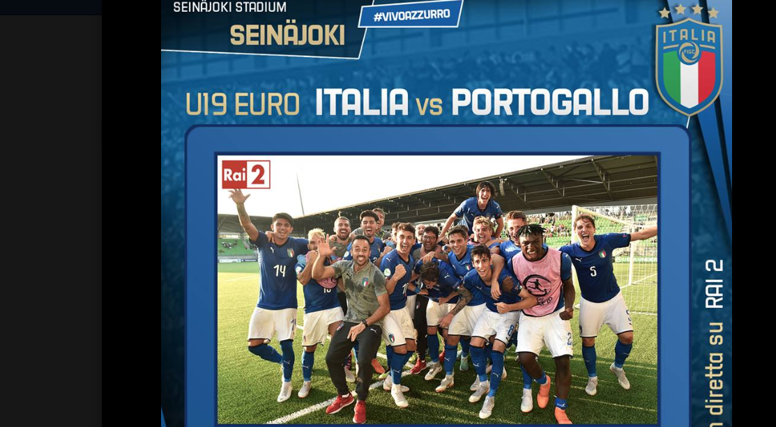 Partite in tv oggi, finale U19: c'è Italia-Portogallo in diretta su Rai 2