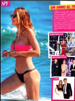 Ilary Blasi in bikini esplosivo, fisico perfetto sulla spiaggia di Sabaudia (Foto)