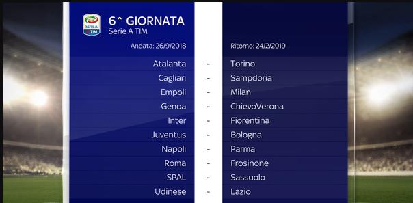 Calendario Particolare.Calendario Completo Serie A 2018 2019 Tutte Le Date Delle
