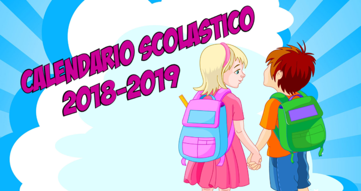Calendario Giorno.Calendario Scolastico 2018 19 Primo E Ultimo Giorno Di